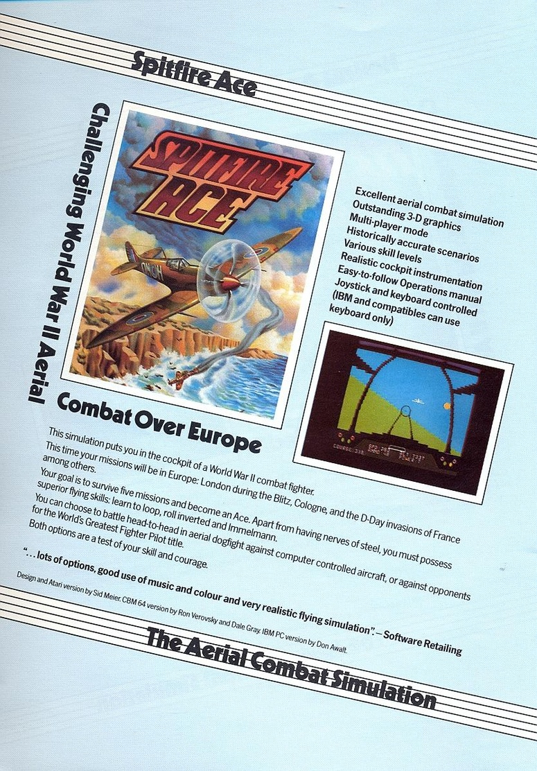 Airborne Ranger microprose catalogue page 15