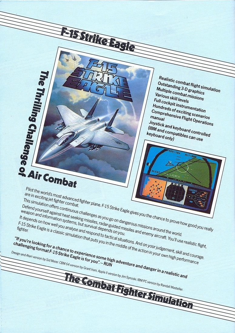 Airborne Ranger microprose catalogue page 7