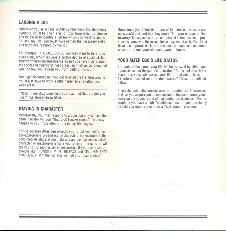 Alter Ego Manual Page 10