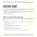 Alter Ego Manual Page ii