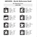 Archon Quick Reference Card - Light Side