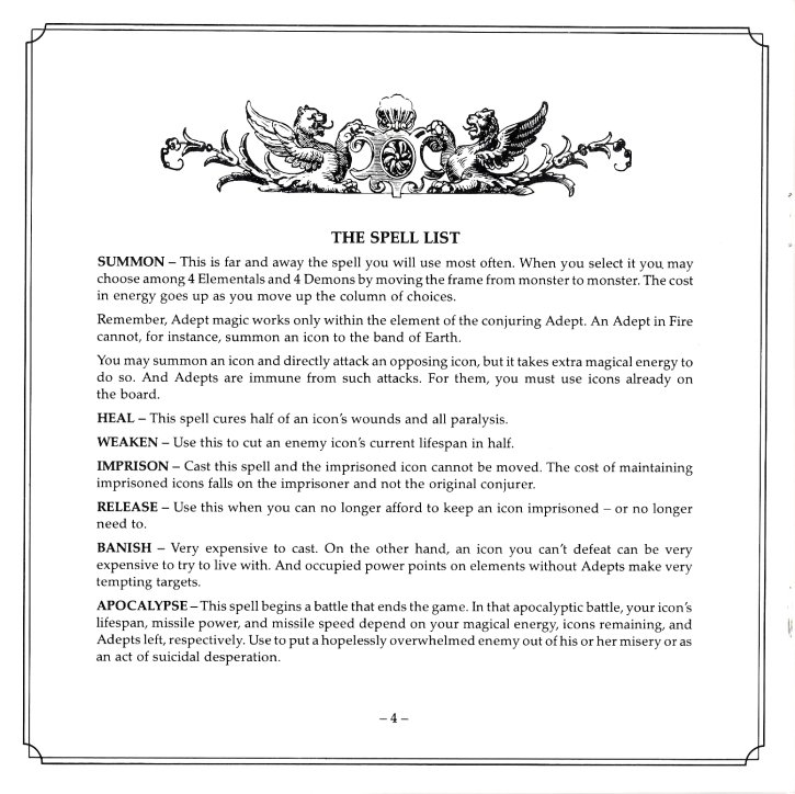 Archon II Manual Page 4