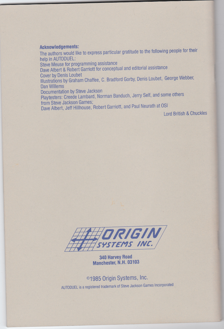 Autoduel manual back cover