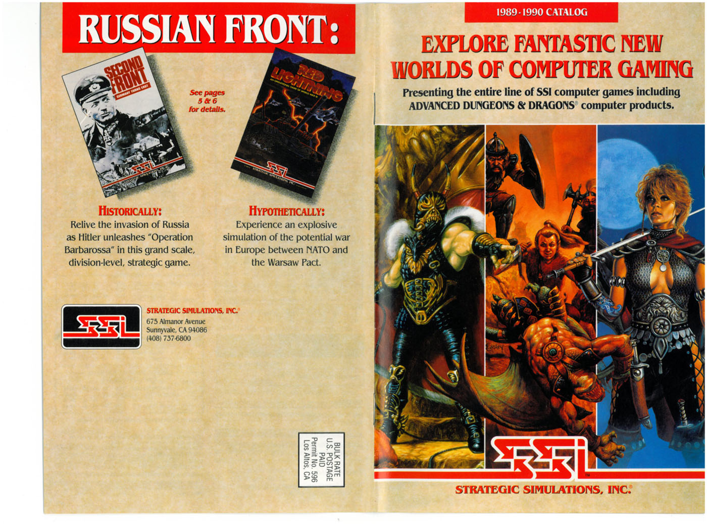Curse Of The Azure Bonds Brochure covers