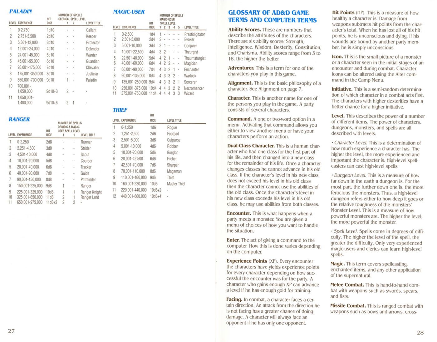 Curse Of The Azure Bonds manual page 27