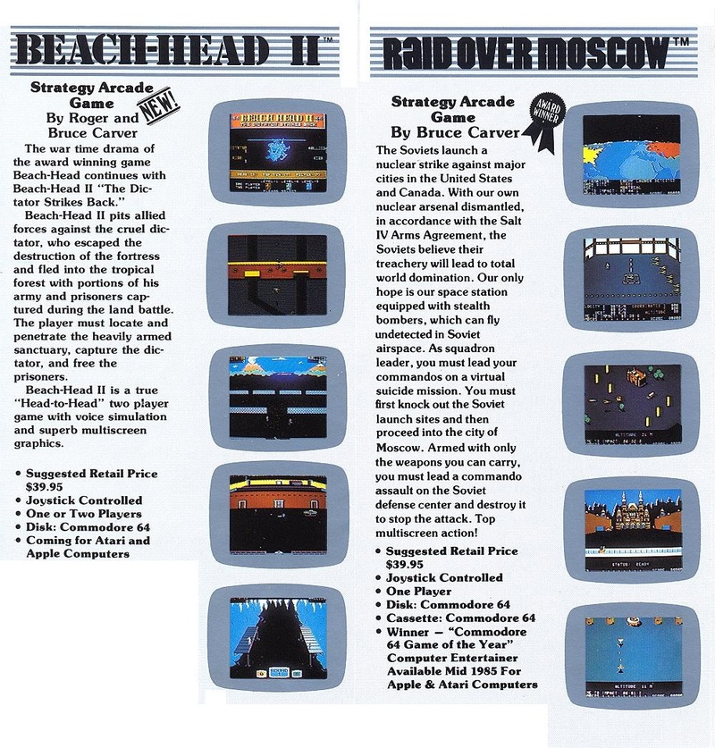 Beach-Head II catalog pages 2 - 3