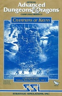 Champions of Krynn rule book front cover