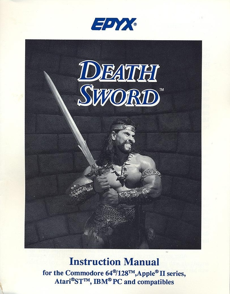 Death Sword manual front cover