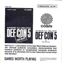 Def Con 5 manual front cover