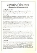 Defender of the Crown reference card front