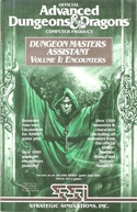 Dungeon Masters Assistant Volume I: Encounters manual front cover