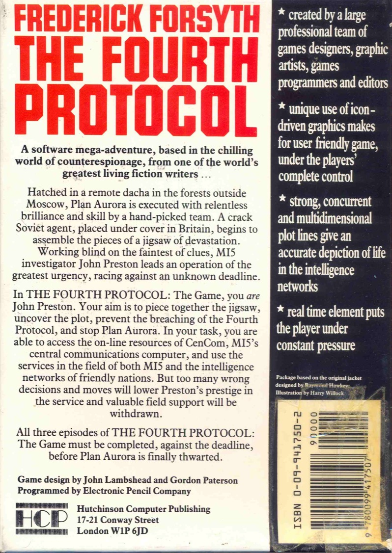 The Fourth Protocol Box Back