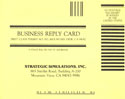 Gemstone Warrior business reply card