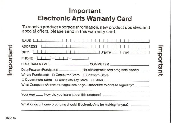 warranty cards template