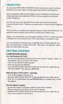 Impossible Mission 2 manual page 4