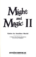 Might and Magic II manual title page