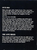 Outlaws inlay inside page 1