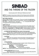 Sinbad and the Throne of the Falcon reference card page 1