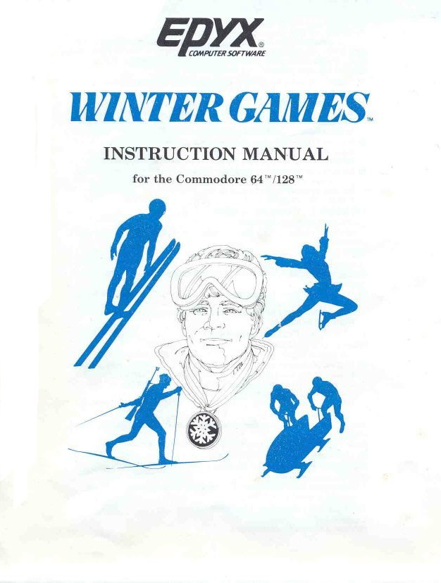 Winter Games Manual Front Cover