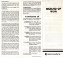 Wizard of Wor manual front